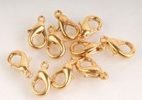 10 x Gold Plated 10mm Trigger Clasp